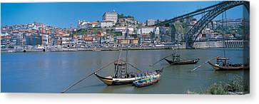 Ponte De Dom Luis I & Douro River Porto Canvas Print by Panoramic Images