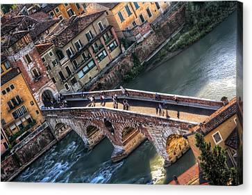 Ponte Pietra Verona Canvas Print by Carol Japp