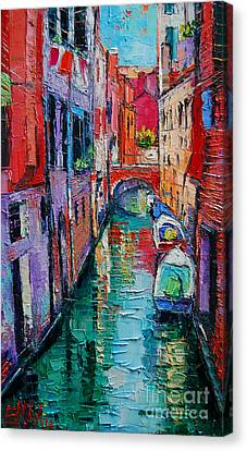Red Roof Canvas Print - Ponte Raspi O Sansoni - Venice - Italy by Mona Edulesco