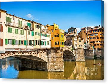 Ponte Vecchio At Sunset Canvas Print by JR Photography