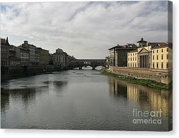 Ponte Vecchio Canvas Print by Belinda Greb