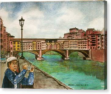 Ponte Vecchio Florence Italy Canvas Print by Frank Hunter