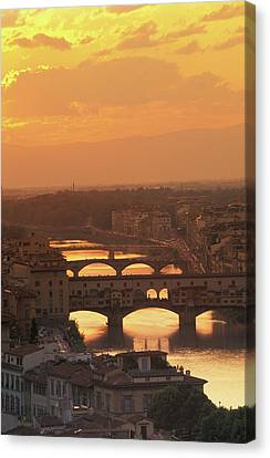 Ponte Vecchio Florence Italy Canvas Print by Panoramic Images