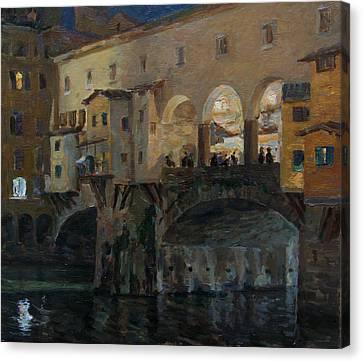 Ponte Vecchio Canvas Print by Korobkin Anatoly