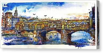 Ponte Vecchio Canvas Print by Randy Sprout