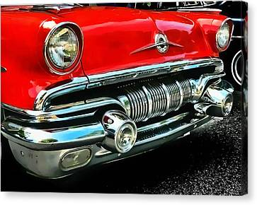 Canvas Print featuring the photograph Pontiac Grill by Victor Montgomery