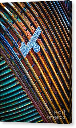 Pontiac Grille Canvas Print by Inge Johnsson