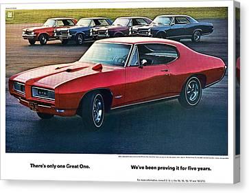 Pontiac Gto - 1964 1965 1966 1967 1968 Canvas Print by Digital Repro Depot