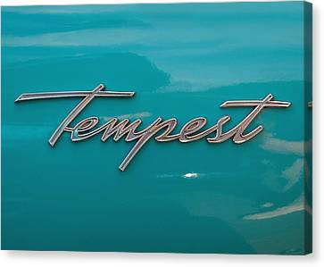 Pontiac Tempest Logo Canvas Print by Charlette Miller