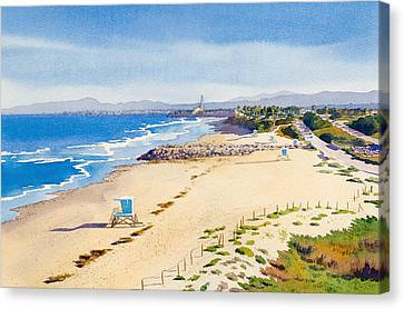 Ponto Beach Carlsbad California Canvas Print by Mary Helmreich