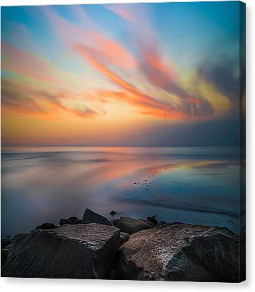 Ponto Jett Sunset - Square Canvas Print