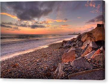 Ponto Twilight Canvas Print by Peter Tellone
