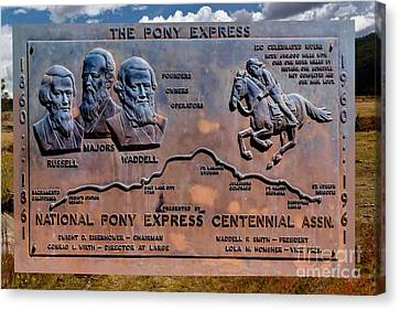 Pony Express Route Canvas Print by Jon Burch Photography