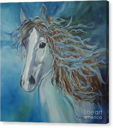 Canvas Print featuring the painting Pony by Jenny Lee