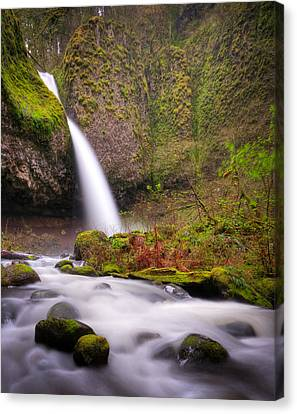 Canvas Print featuring the photograph Ponytail Falls by Brian Bonham
