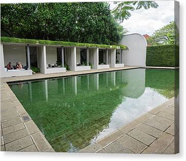 Pool At Amangalla Hotel, Galle Fort Canvas Print