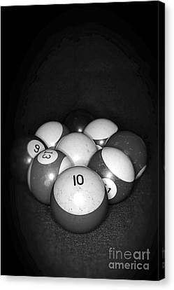 Pool Balls In Black And White Canvas Print