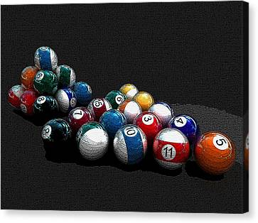 Pool Balls Painting Canvas Print by Marvin Blaine