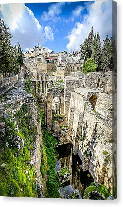 Pool Of Bethesda Canvas Print by David Morefield