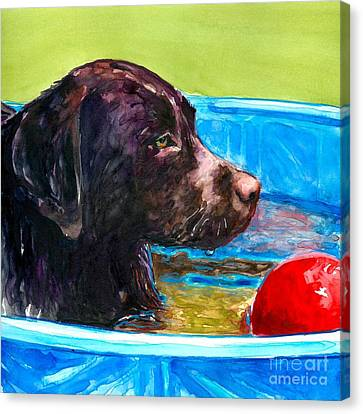 Pool Party Of One Canvas Print