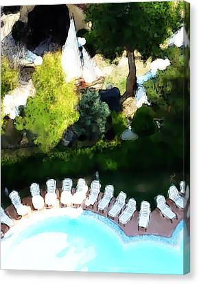 Pool - Piscina Canvas Print by Ze  Di