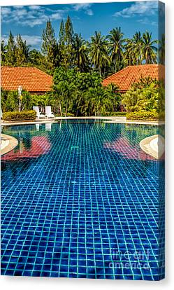 Water Swimming Pool Canvas Print - Pool Time by Adrian Evans