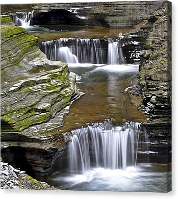 Cavern Canvas Print - Pools Of Green by Frozen in Time Fine Art Photography