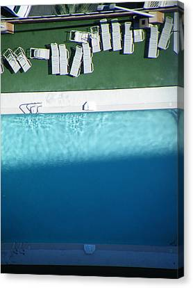 Poolside Upside Canvas Print by Brian Boyle