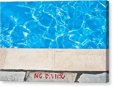 Poolside Warming Canvas Print by Tom Gowanlock