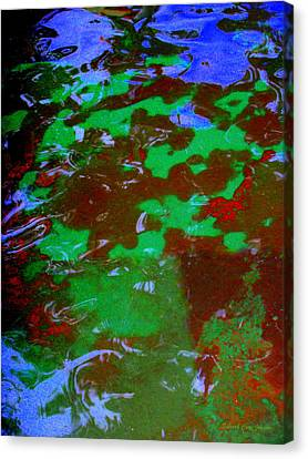 Poolwater Abstract Canvas Print by Deborah  Crew-Johnson