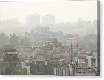 Poor Air Quality And Pollution Canvas Print by Ashley Cooper