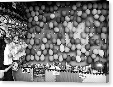 Pop Any Balloon Mono Canvas Print