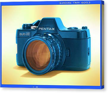 Classic Camera Canvas Print - Pop Art 110 Pentax by Mike McGlothlen