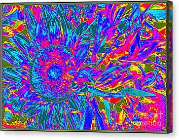 Pop Art Blossoms Canvas Print by Dora Sofia Caputo Photographic Art and Design