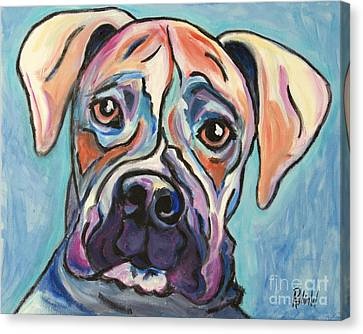Pop Art Boxer Canvas Print by Robin Wiesneth