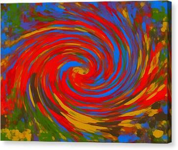 Pop Art Color Swirl Canvas Print by Dan Sproul