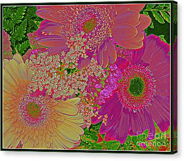 Pop Art Daisies Canvas Print by Dora Sofia Caputo Photographic Art and Design