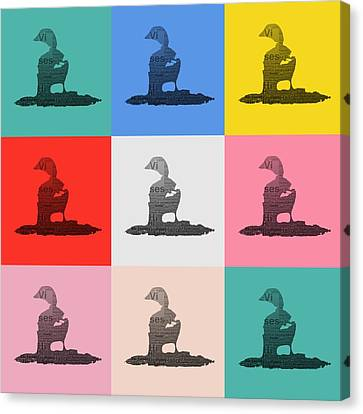 Pop Art Ducks Canvas Print