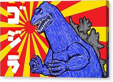 Pop Art Godzilla Canvas Print by Gary Niles