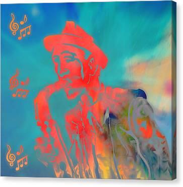 Pop Art Jazz Man Canvas Print by Dan Sproul