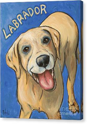 Pop Art Labrador Canvas Print by Robin Wiesneth