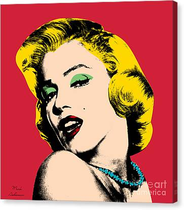 Movie Art Canvas Print - Pop Art by Mark Ashkenazi