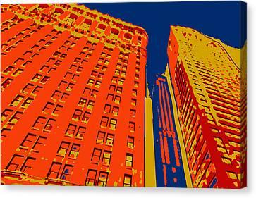 Times Square Canvas Print - Pop Art Nyc 2 by David G Paul