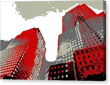 Times Square Canvas Print - Pop Art Nyc 4 by David G Paul