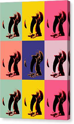 Pop Art Penguin  Canvas Print