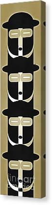 Warhol Canvas Print - Pop Art People Totem 5 by Edward Fielding