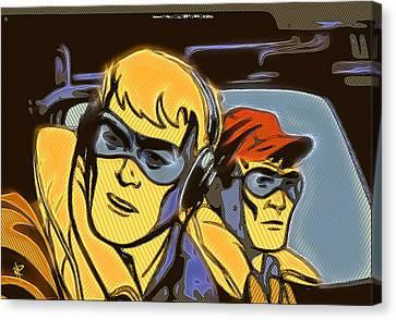 Pop Art Pilots Canvas Print by Russell Pierce