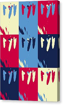 Pop Art Pistils Canvas Print by Tommytechno Sweden