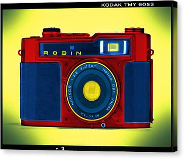 Pop Art Robin Canvas Print by Mike McGlothlen