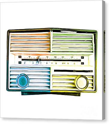 Pop Art Vintage Radio Canvas Print